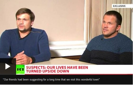Borishov en Petrov, verdacht in de zaak Skripal